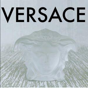 👑 VERSACE MEDUSA HEAD CRYSTAL SCULPTURE 💯AUTH
